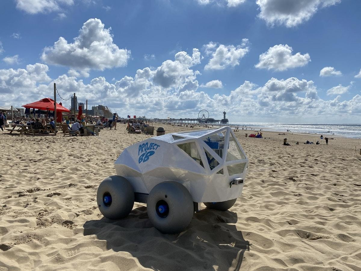 This little robot is cleaning up our beaches, one cigarette butt at a time