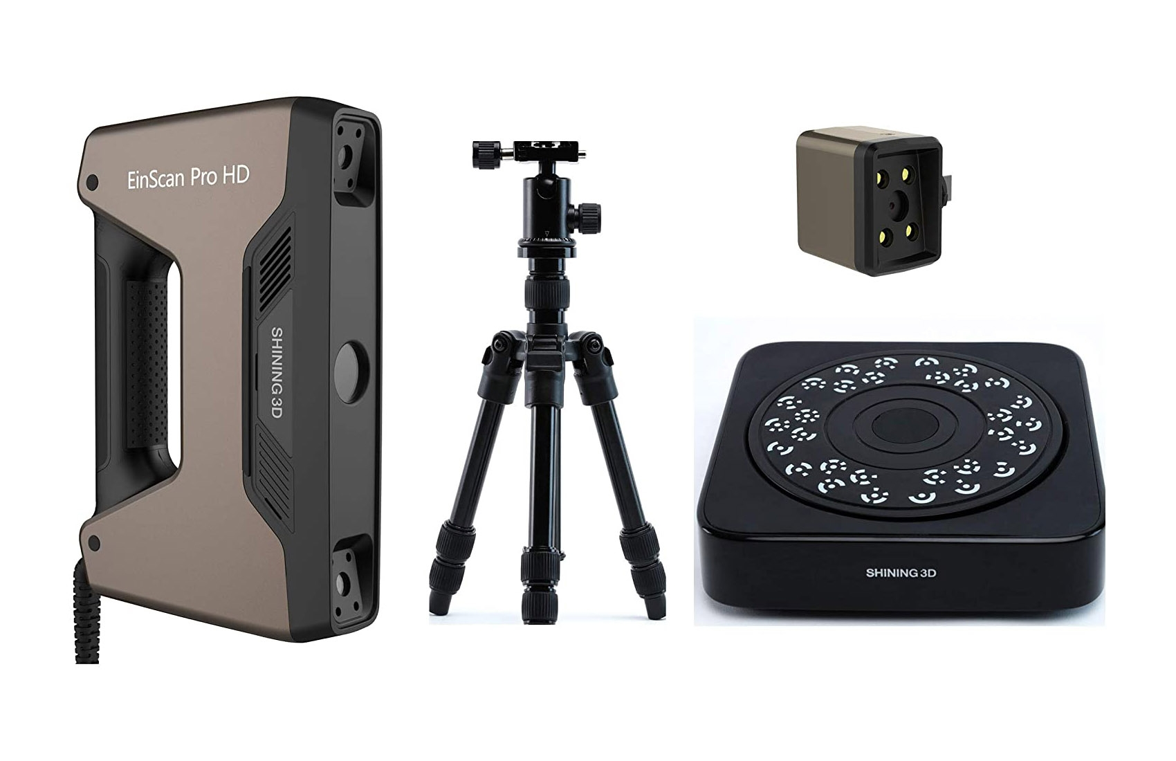 EinScan Pro HD 3D Scanner with Turntable, Tripod, Color Pack, 0.2mm Resolution, 0.04mm Accuracy